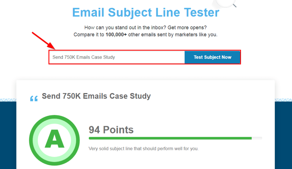 Email Subject Line Score Tester