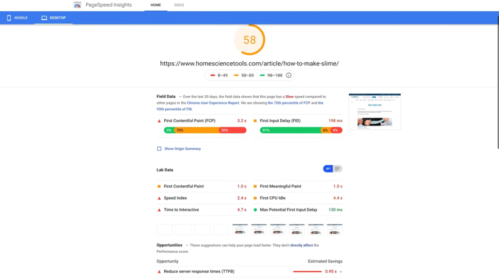 Lighthouse Extension Google Page Speed Insights Similarity