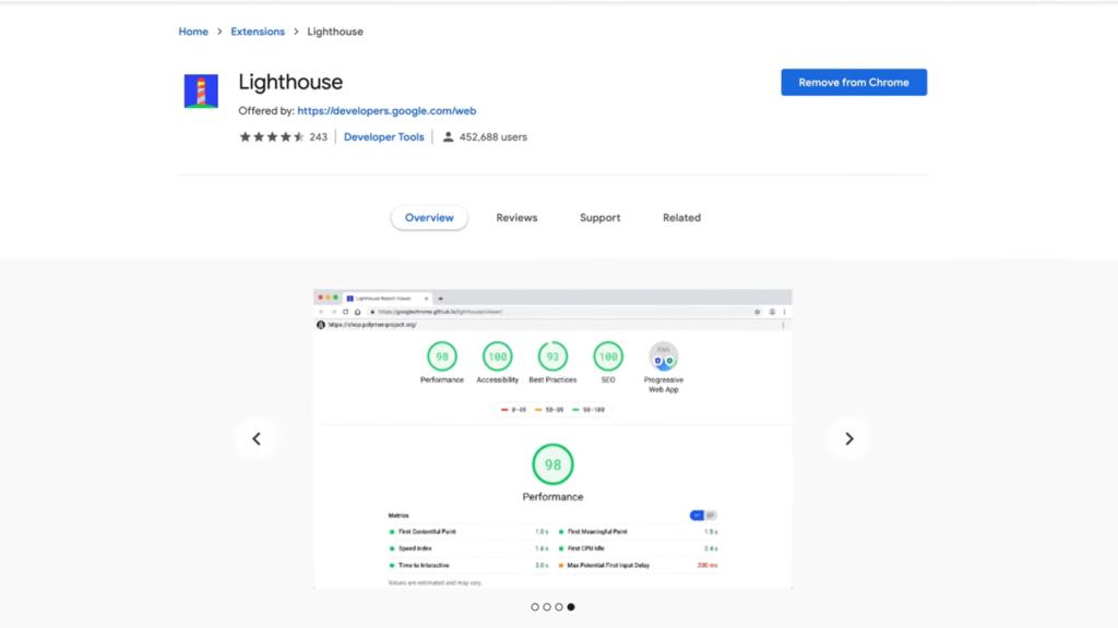 Lighthouse Google Chrome SEO Extension
