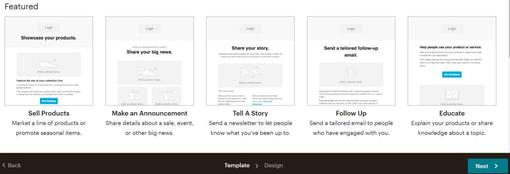 Mailchimp Email Creation Process