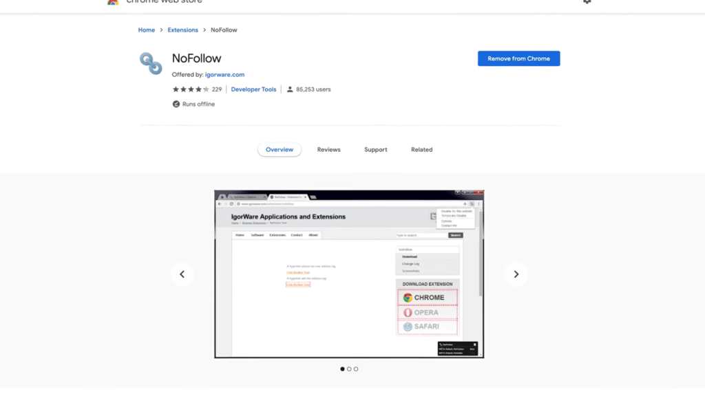 NoFollow Google Chrome SEO Extension