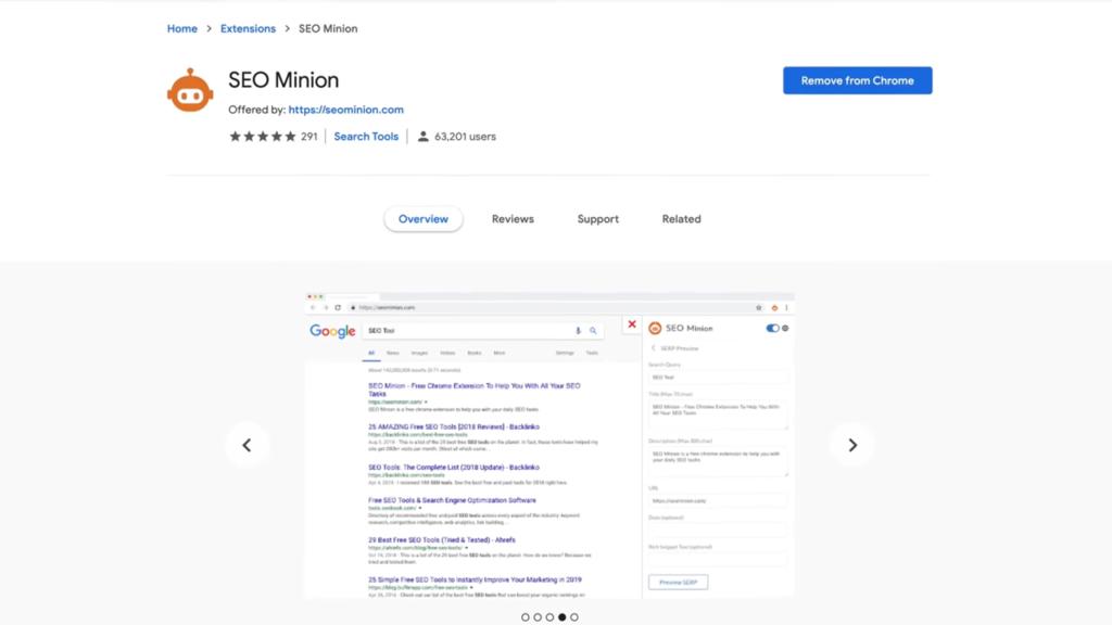 SEO Minion Google Chrome SEO Extension